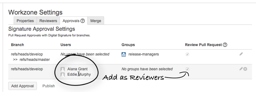 sign approver as reviewer
